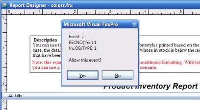 Extending the Report Designer in VFP9 with Report Builders - Part 1